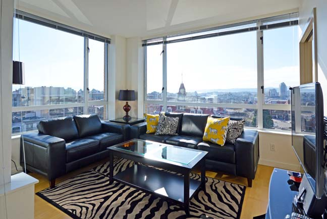 Gorgeous rental suites available in modern construction buildings in downtown Victoria
