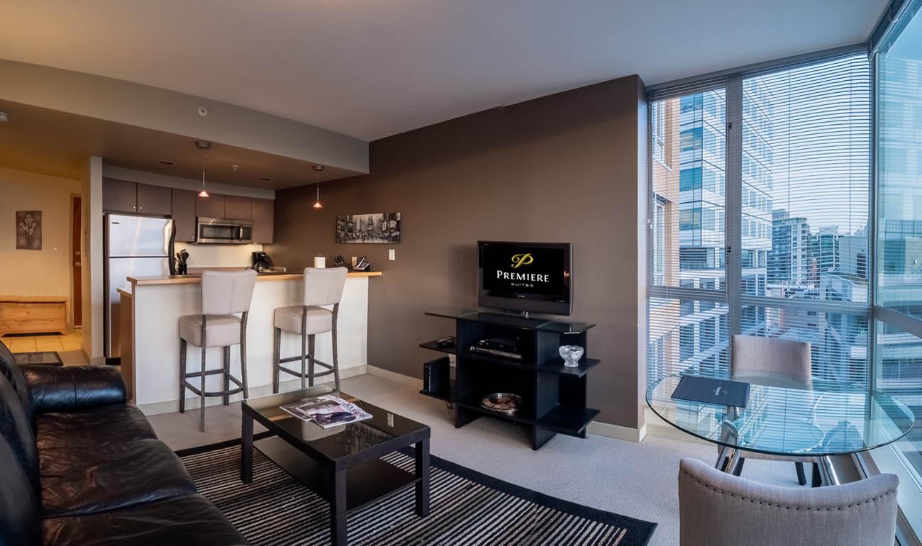 Condo open concept living room