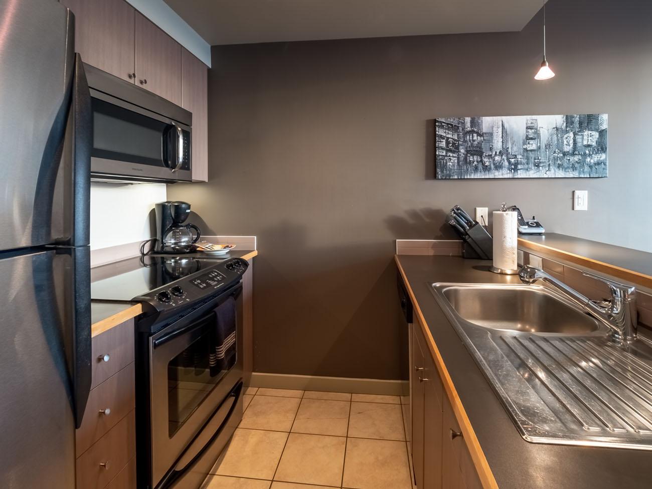 Kitchen at Corazon condo Victoria BC