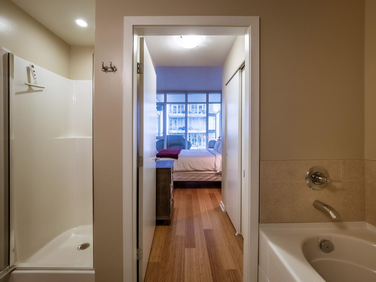 bathroom with bedroom access