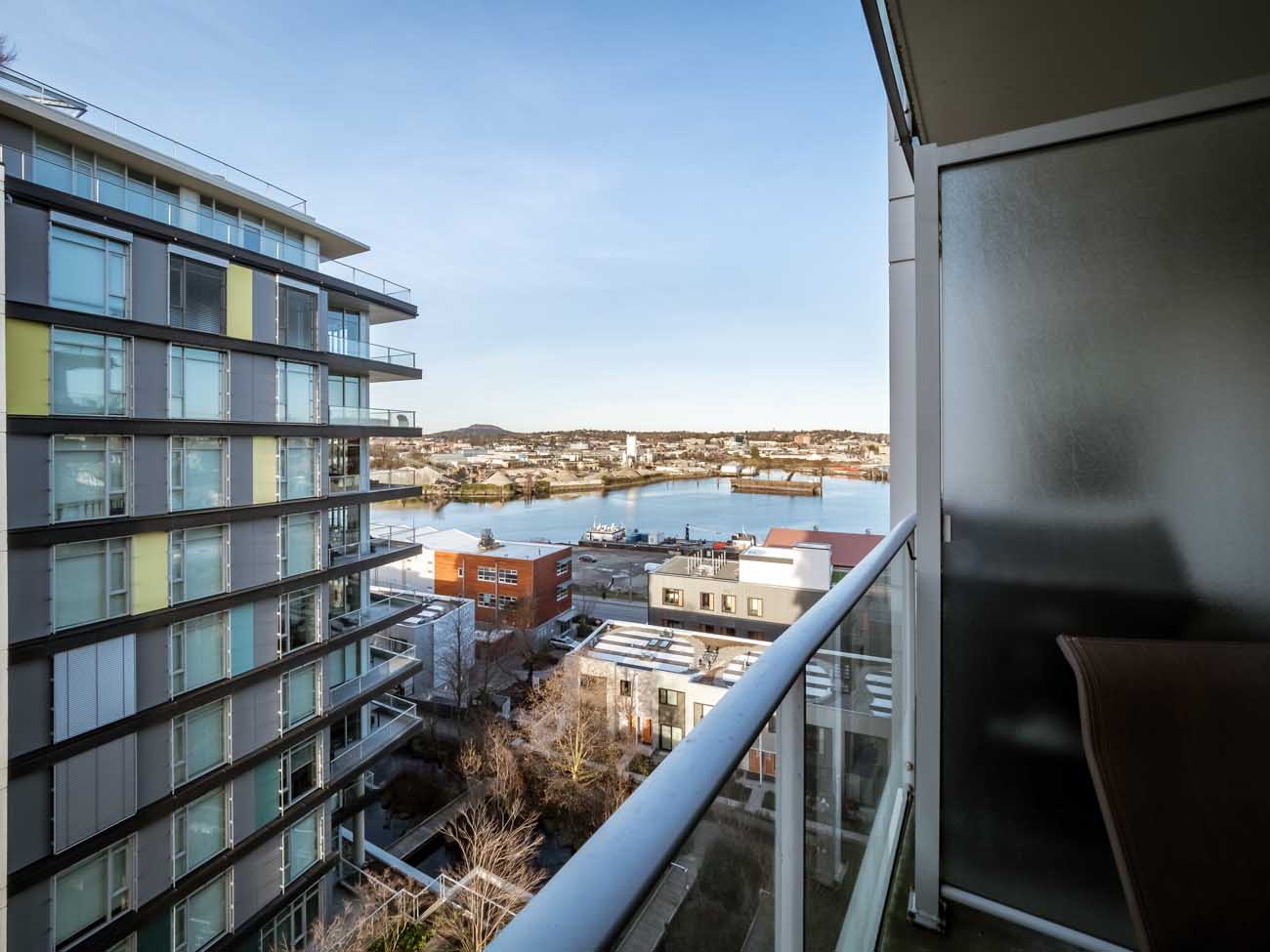 View from balcony Dockside Green Balance condo