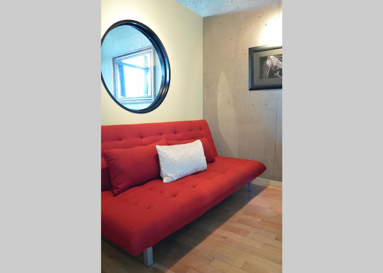 Inner harbour condo den fold down sofa
