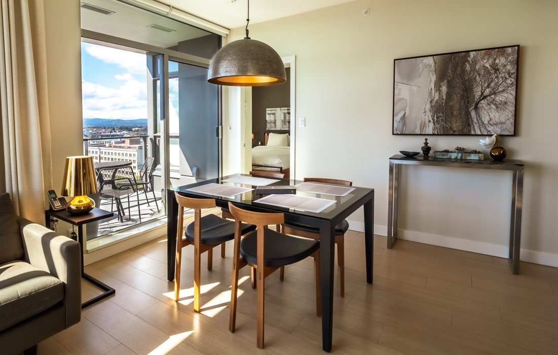 Executive condo modern dining room