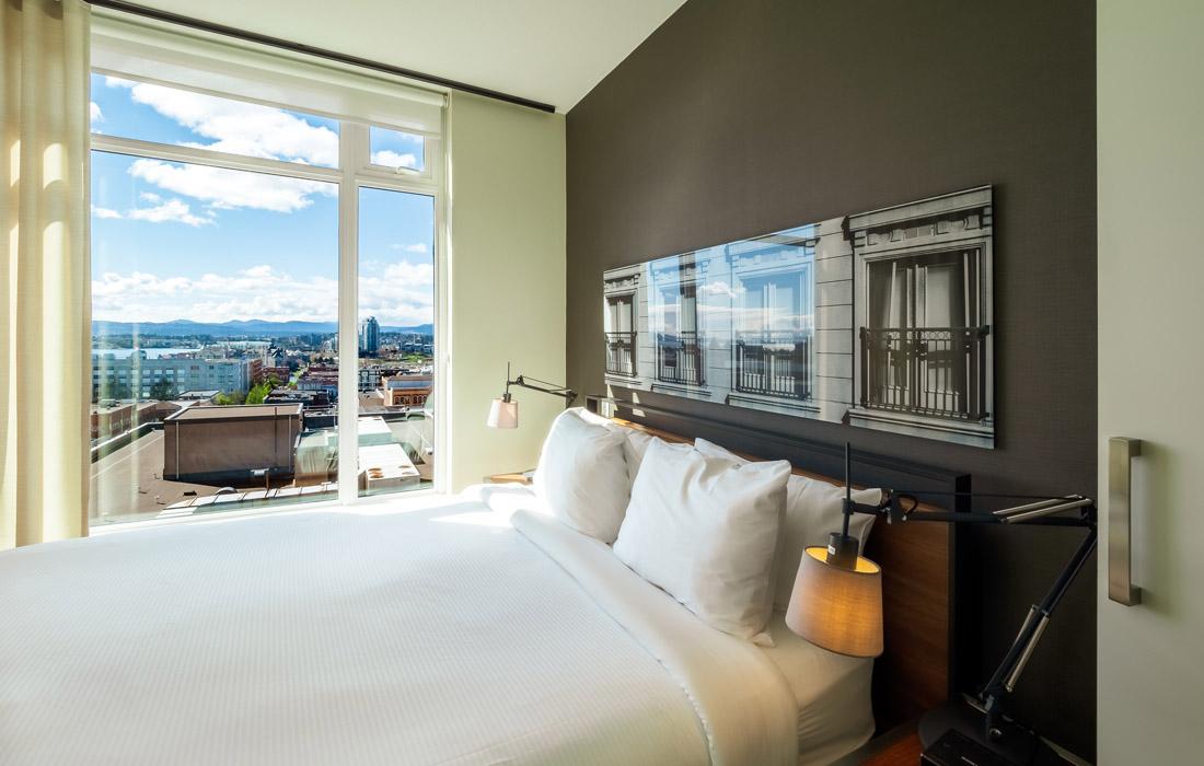 Executive condo queen bedroom