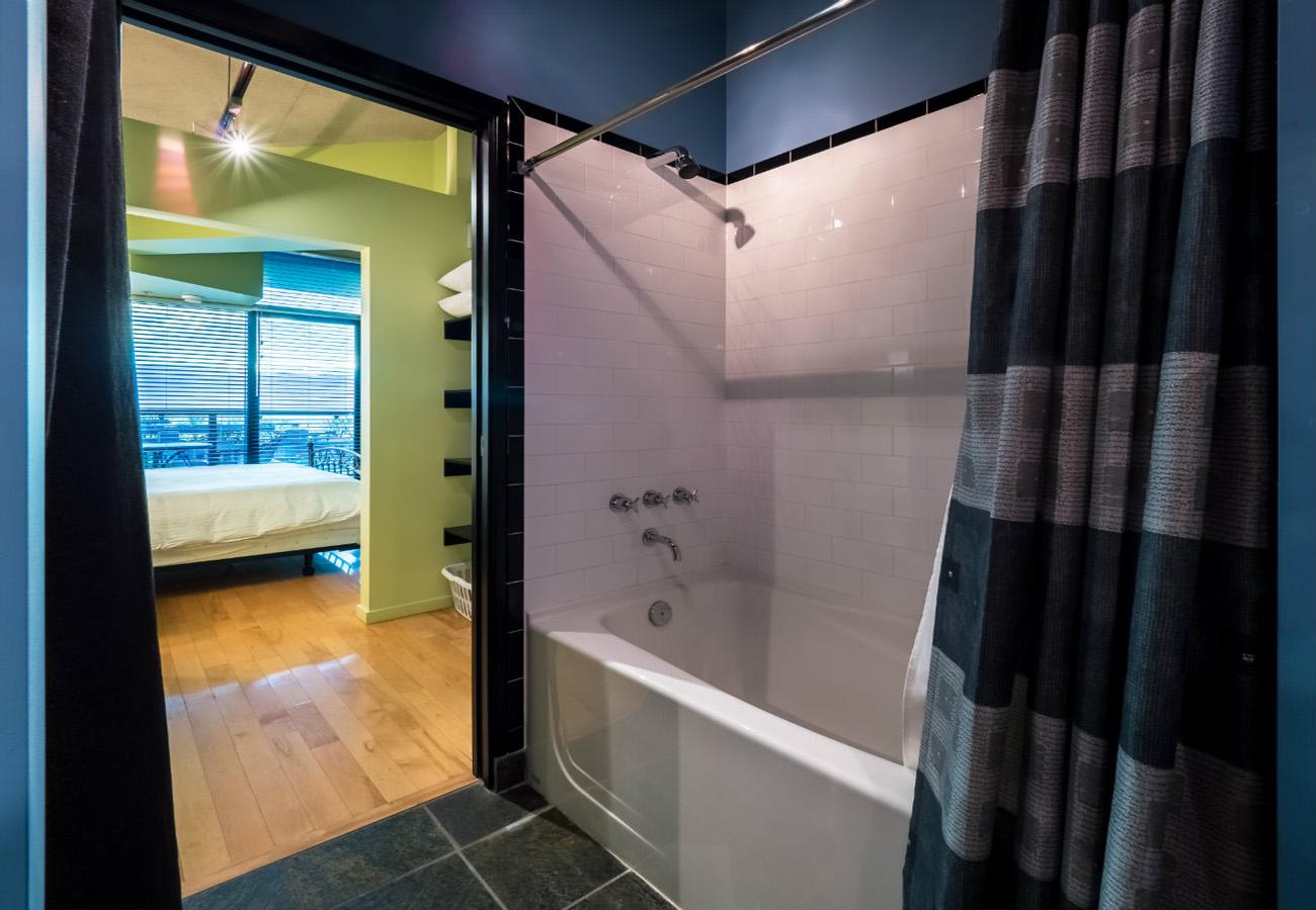 Ensuite bathroom penthouse condo