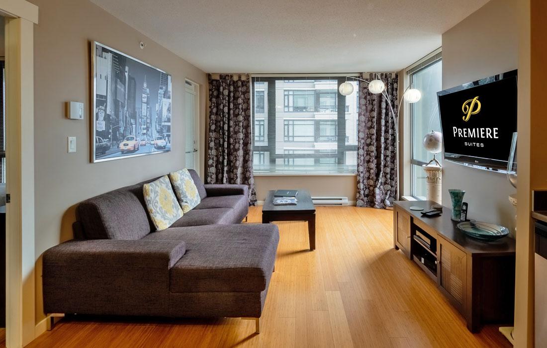 Astoria condo furnished living room