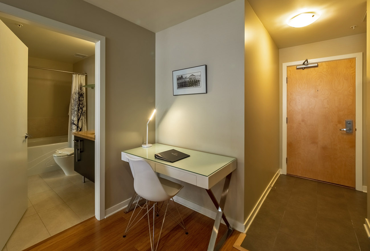 condo with work space