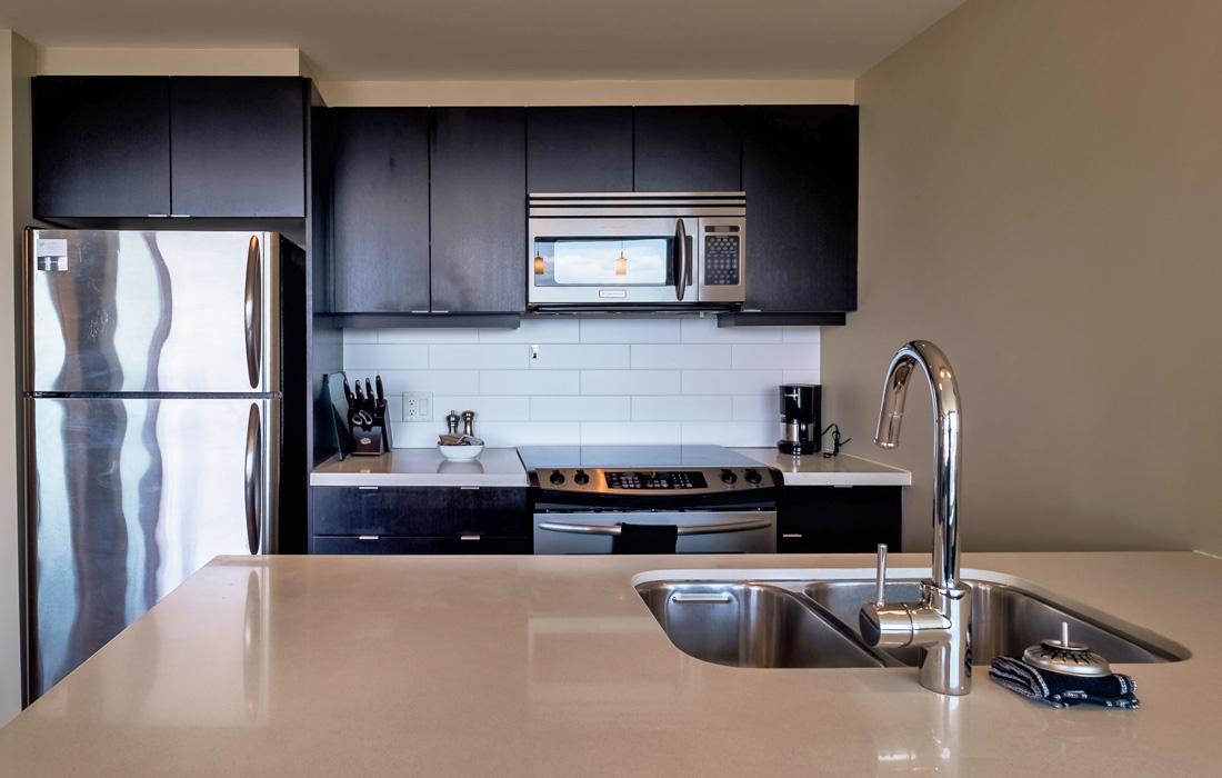 Victoria condo modern kitchen