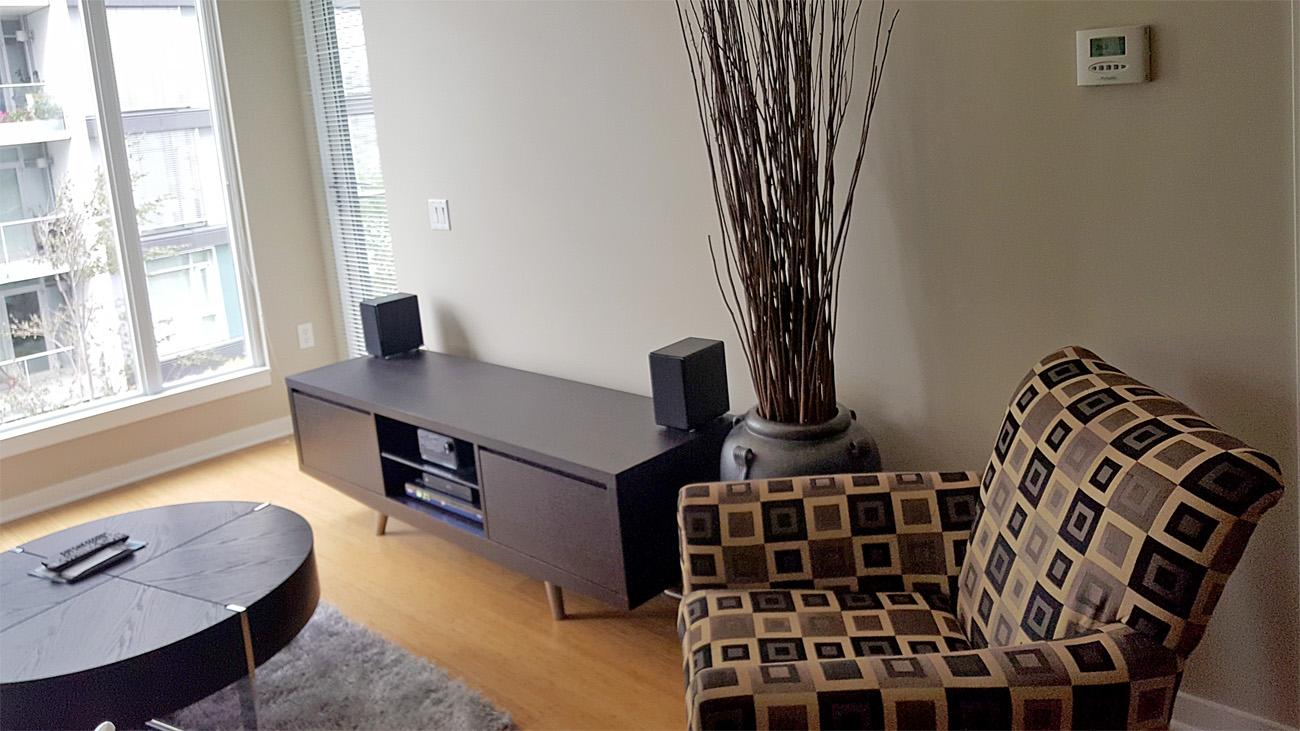 Furnished living room one bedroom suite Victoria
