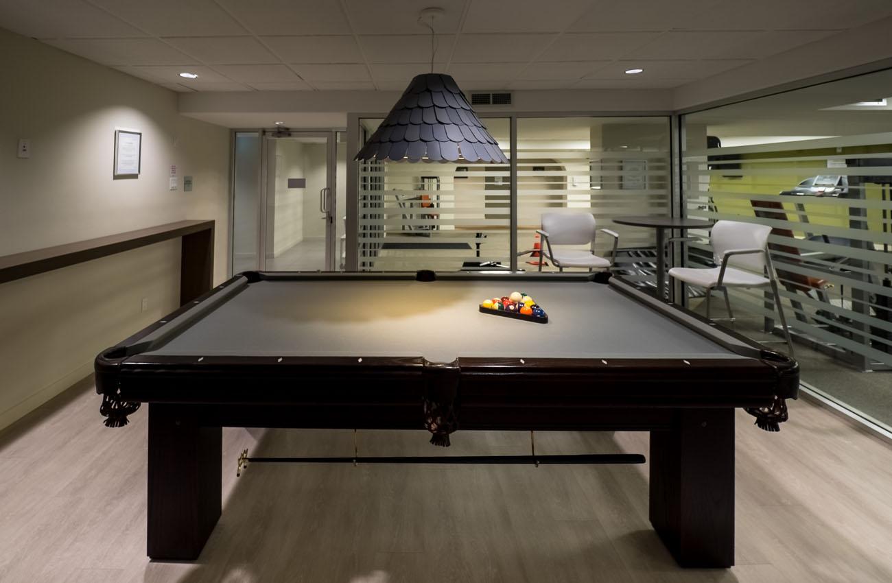 Furnished Apartment Victoria billiard table