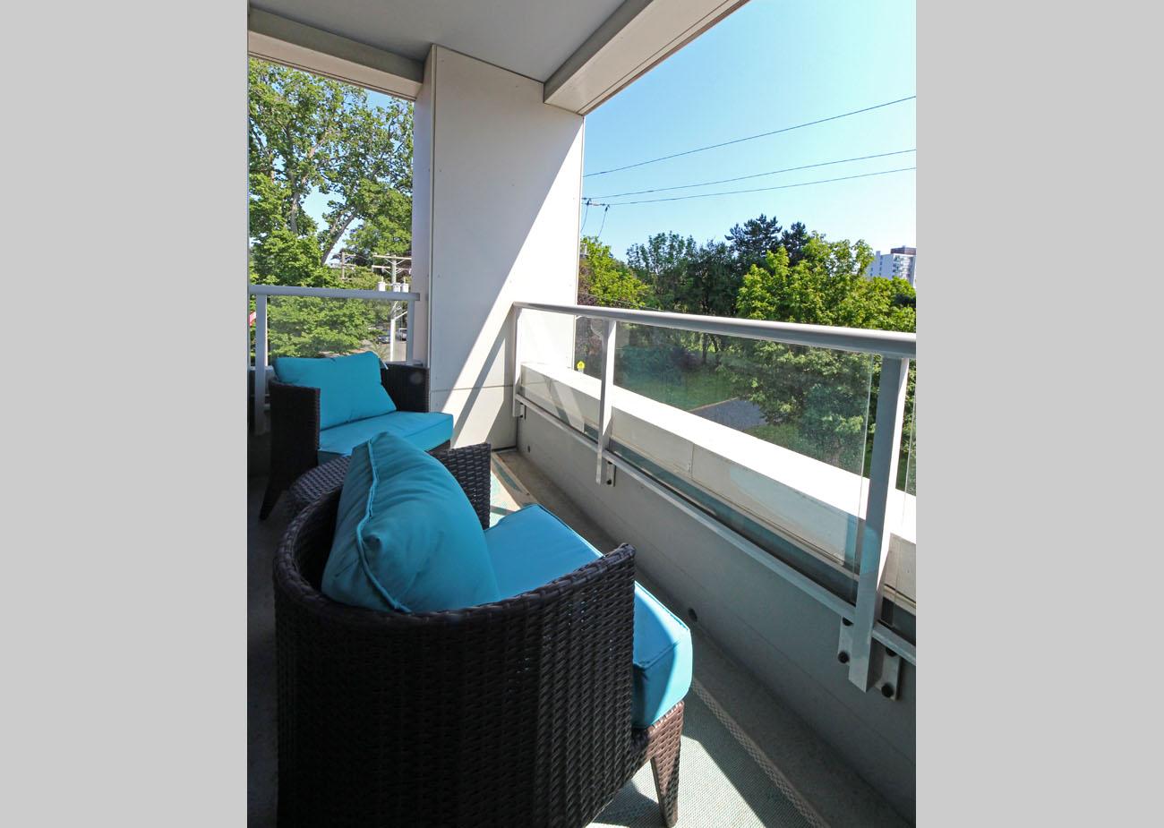 Duet condo balcony