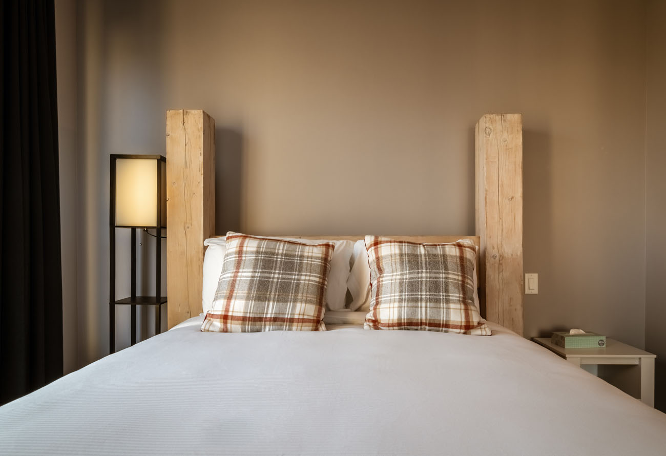 downtown victoria condo bedroom queen bed