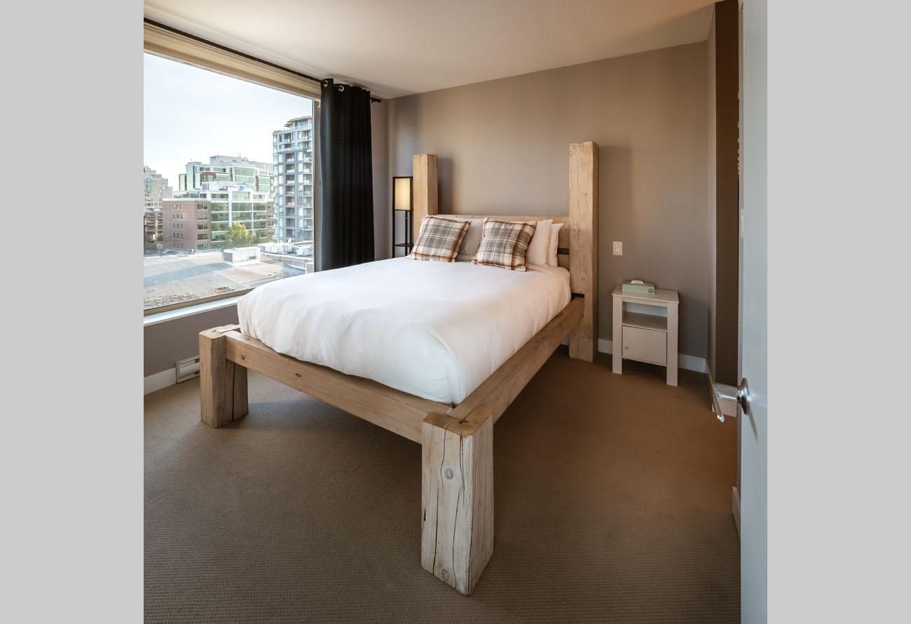 downtown victoria condo bedroom