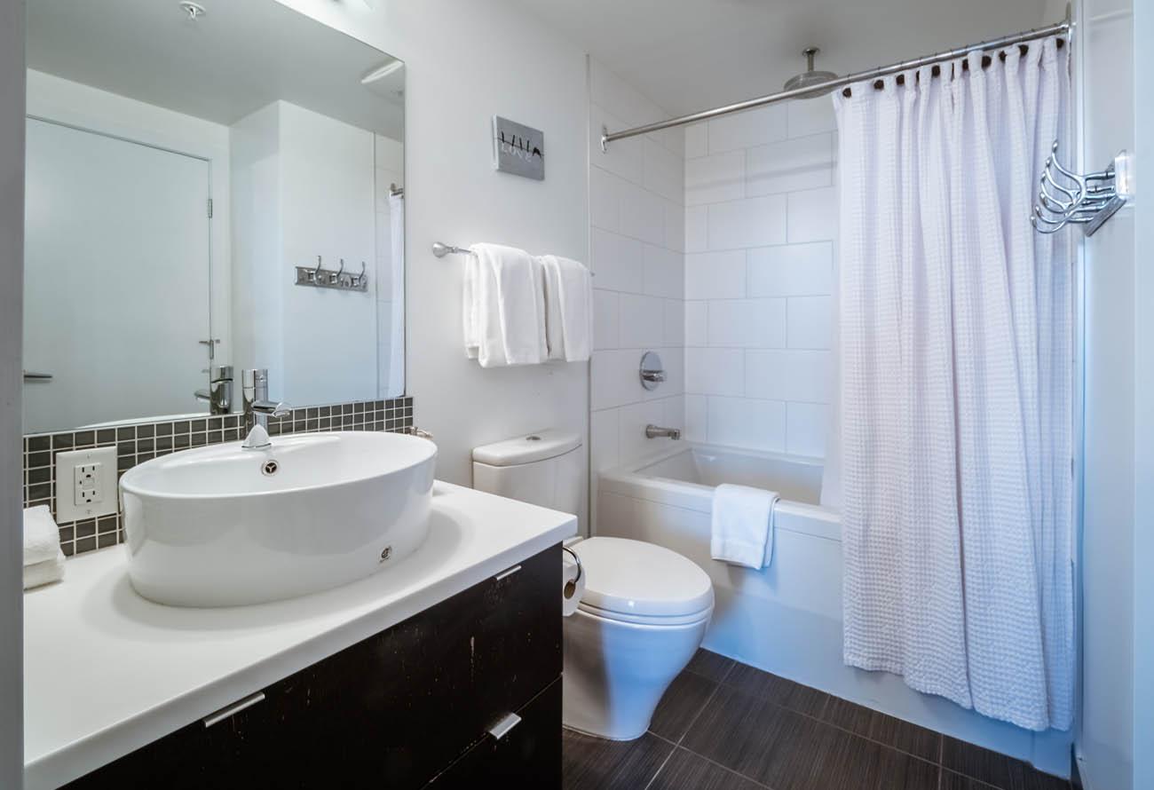 downtown victoria condo bathroom