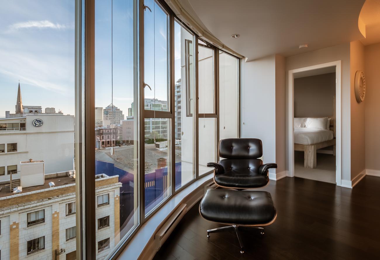 downtown victoria condo floor to ceiling windows
