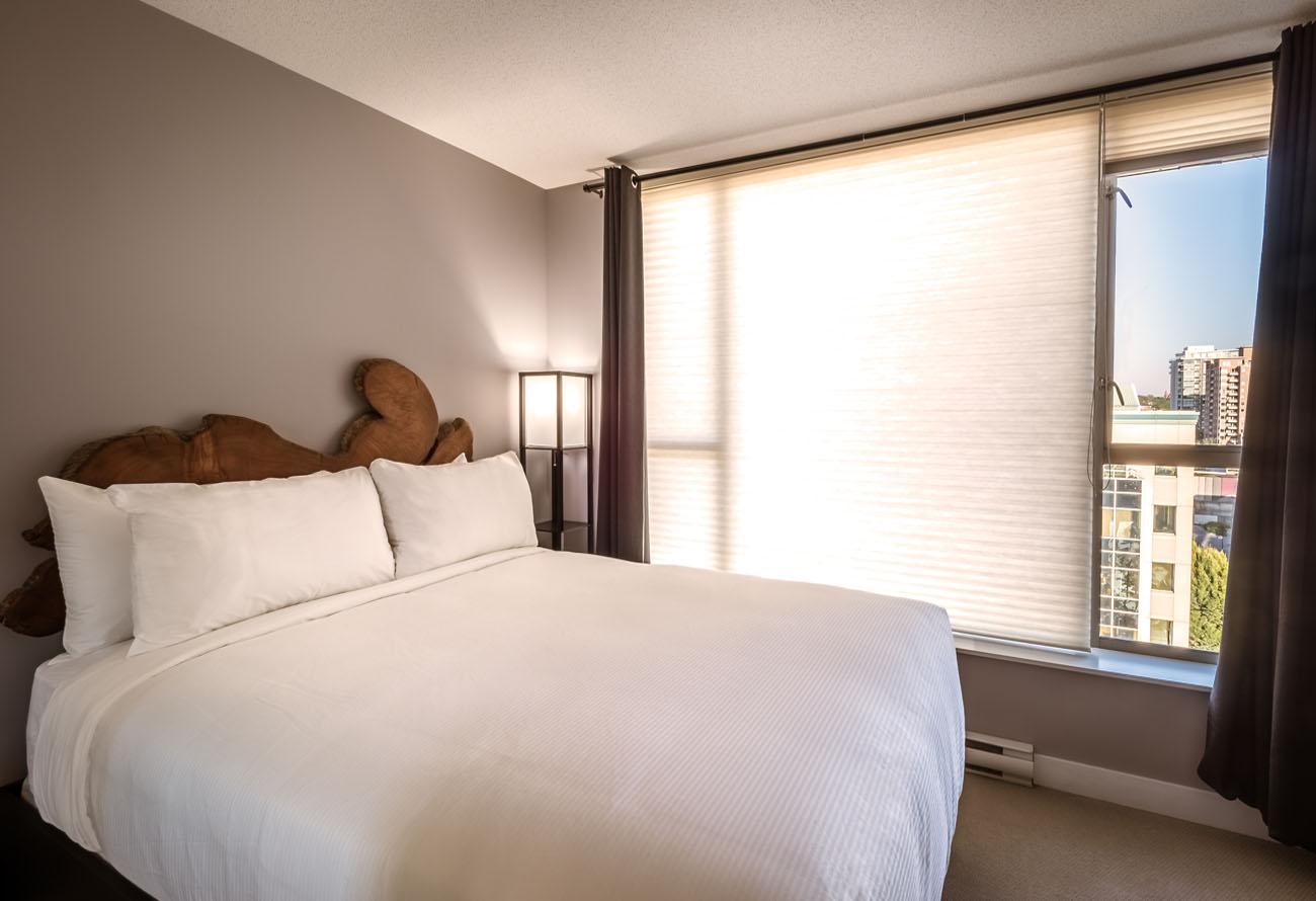 downtown victoria condo master bedroom