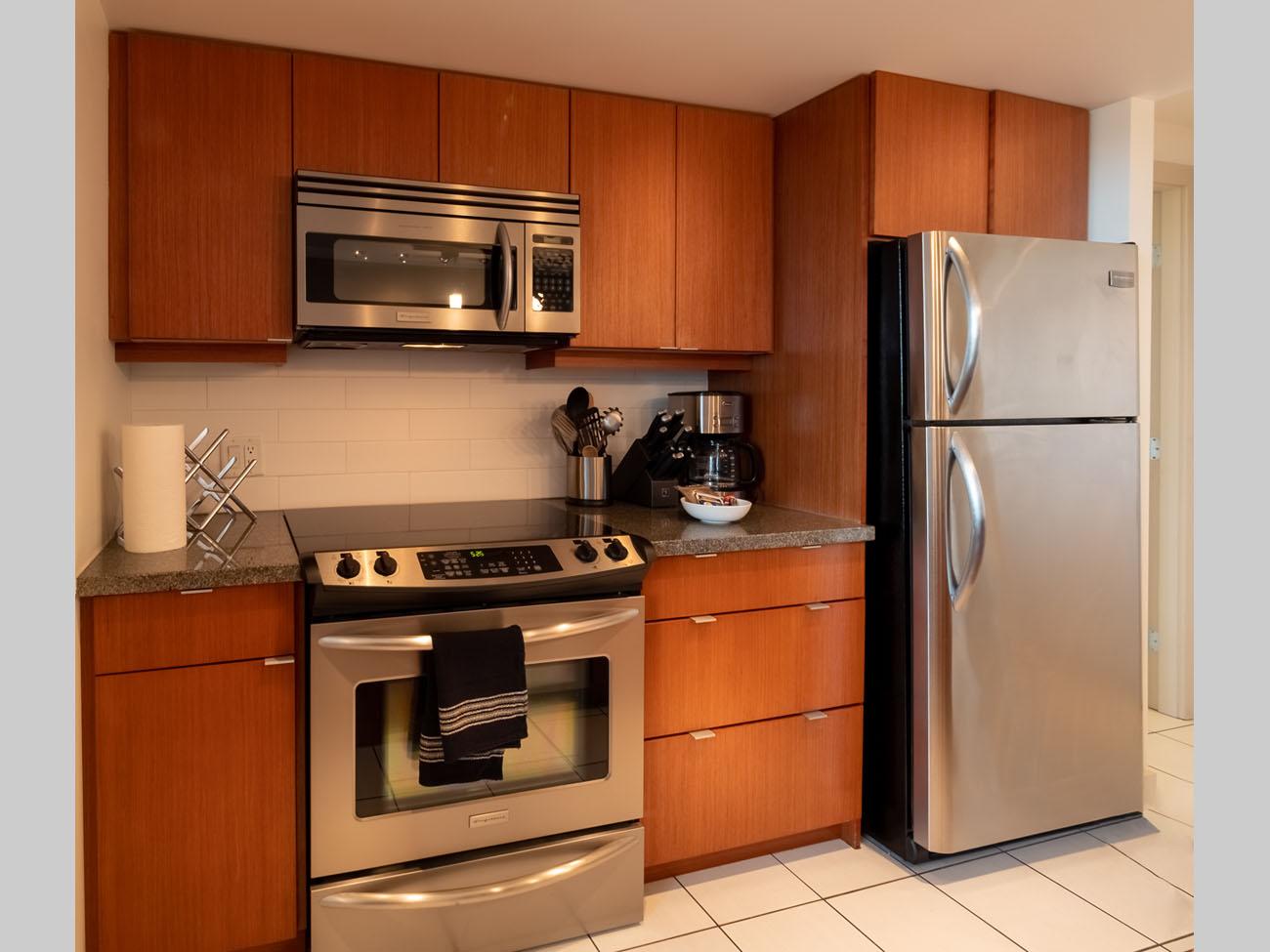 downtown suite Victoria modern kitchen