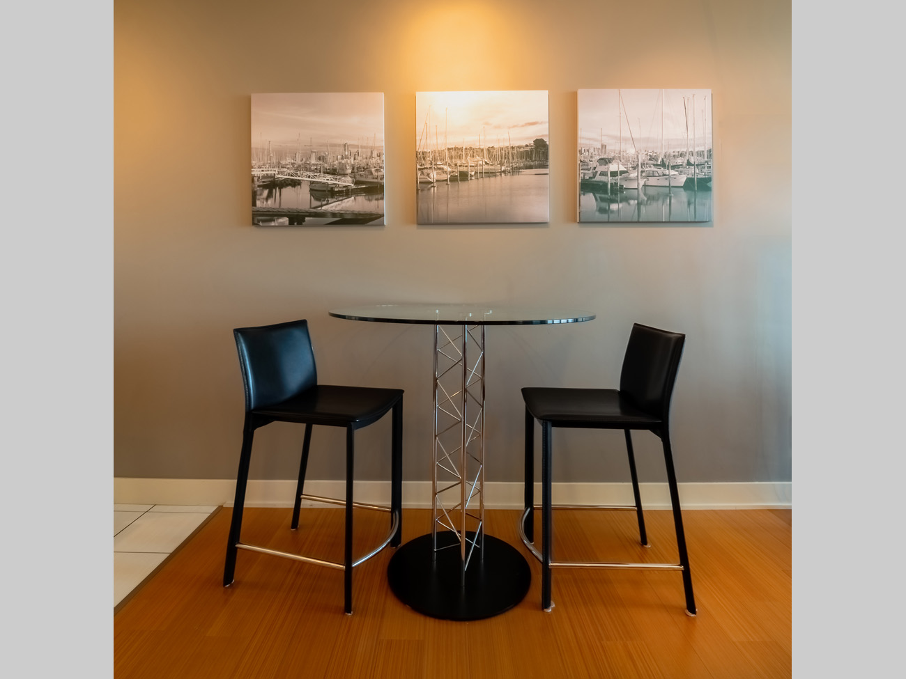 downtown suite dining area bistro table for 2