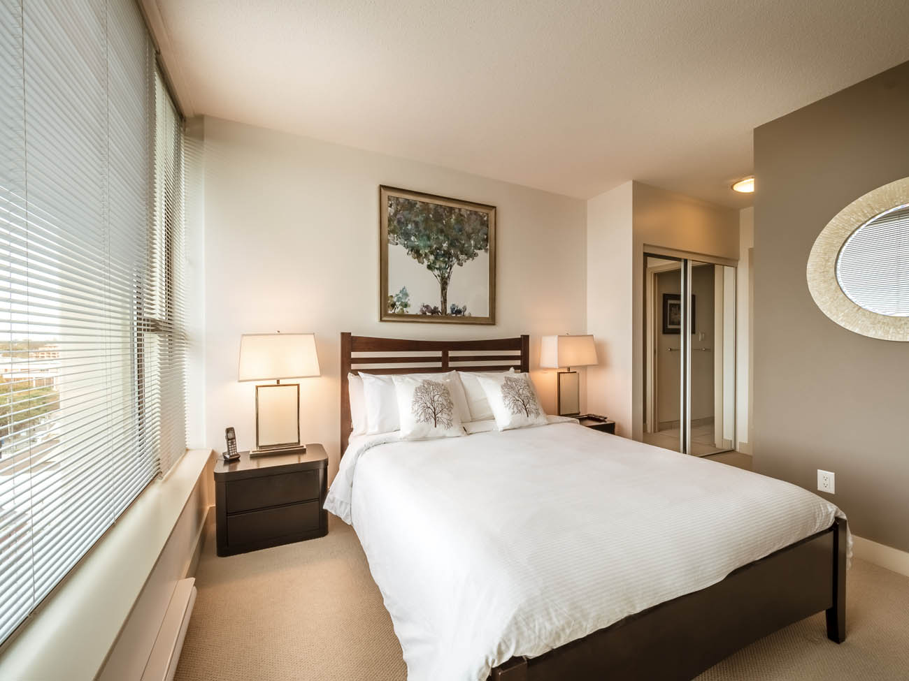 downtown suite bedroom with shared ensuite