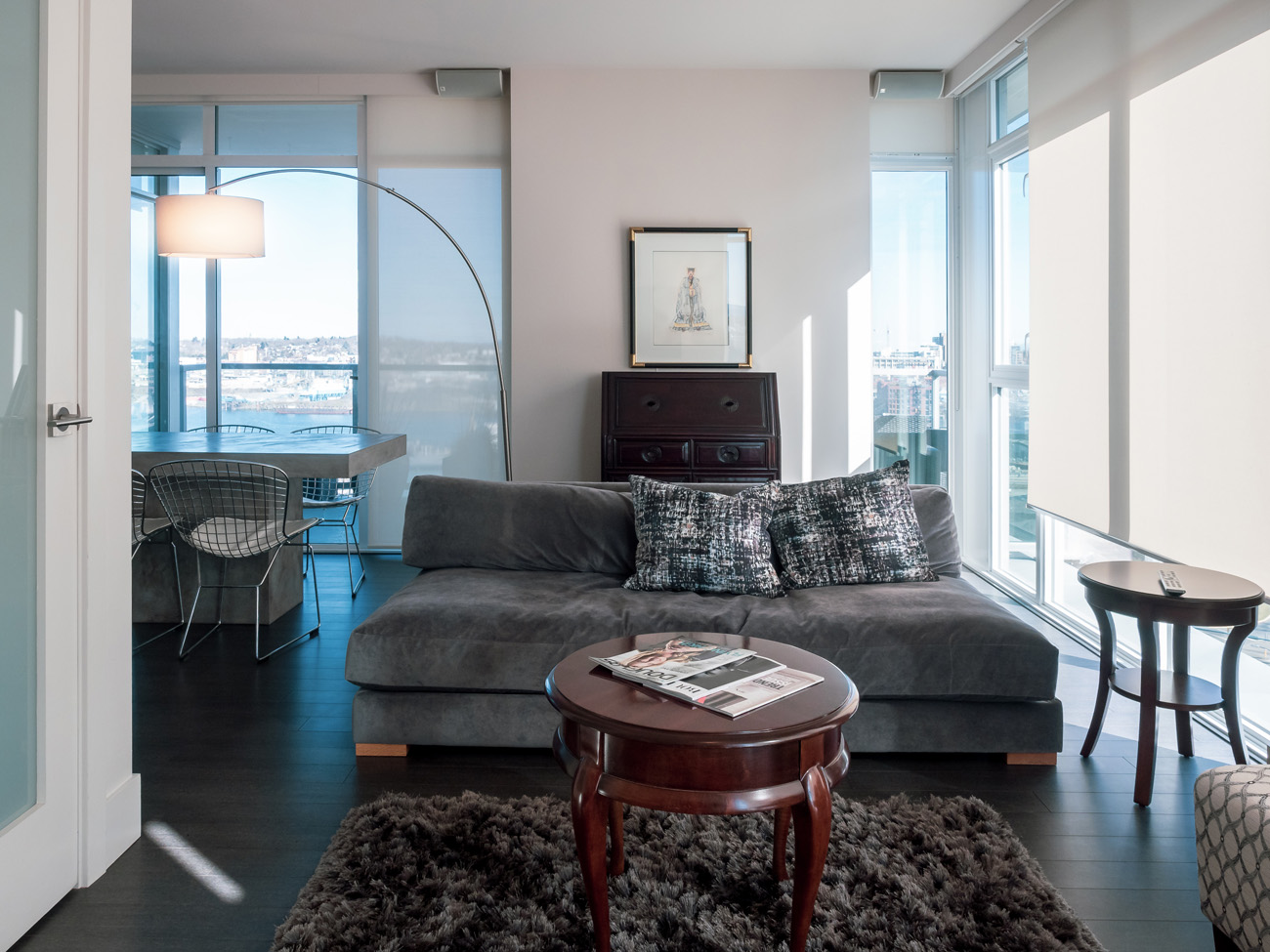 promontory high rise condo Victoria living room