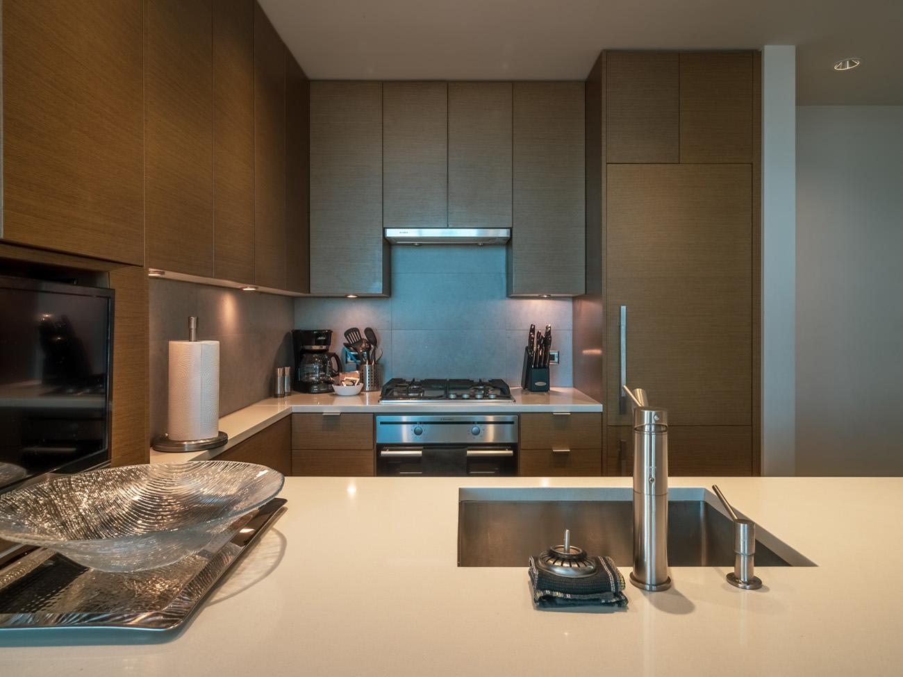 high rise condo kitchen Victoria BC