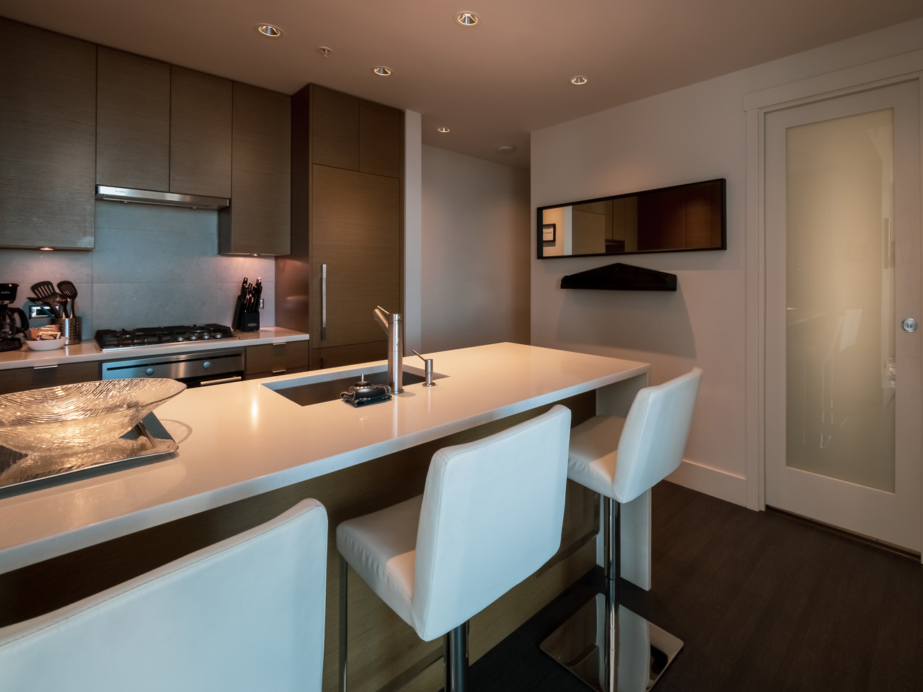 kitchen bar seating Promontory high rise condo Victoria