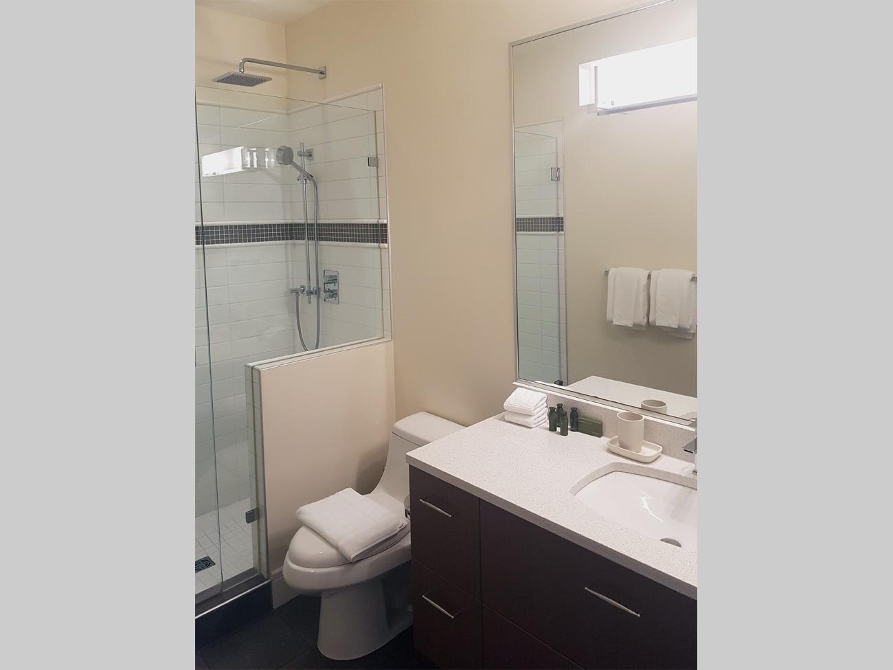 Executive townhome three piece bath