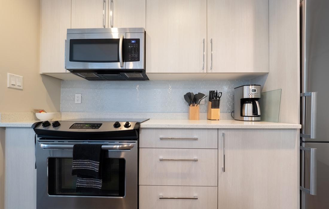 Victoria condos modern kitchen