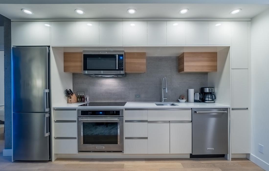 Open concept condo Victoria kitchen
